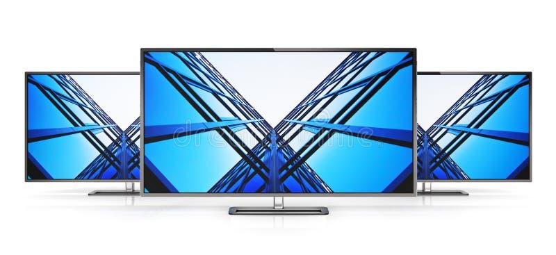 Set of modern TVs vector illustration