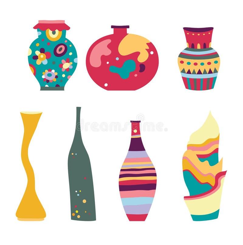 Set of Modern Vases vector illustration