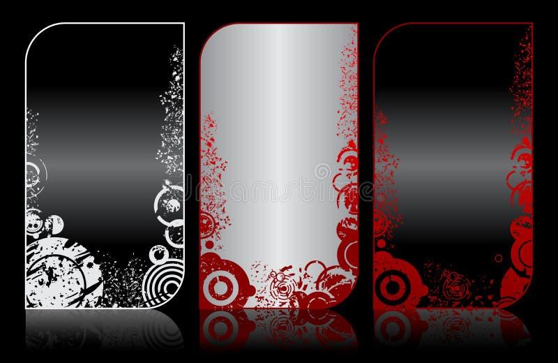 Set moderne elegante grunge Visitenkarten lizenzfreie abbildung