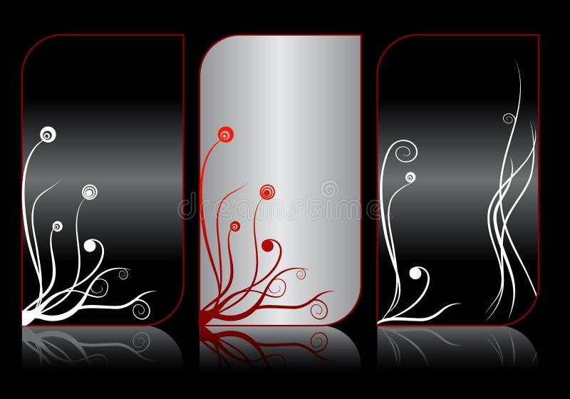 Set moderne elegante Visitenkarten stock abbildung