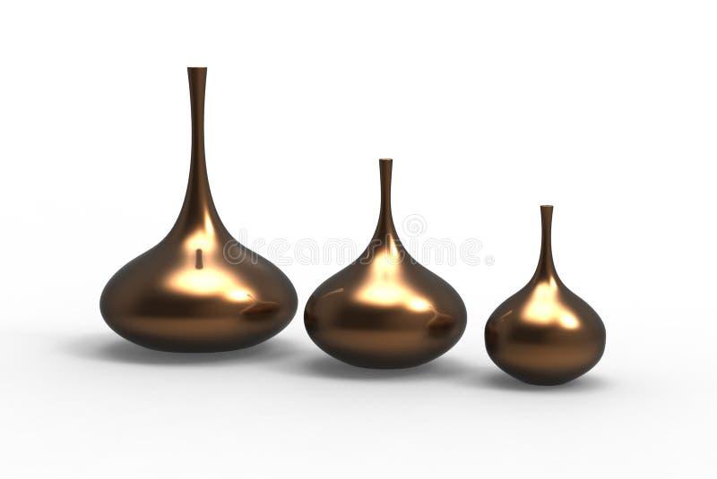 Moderne Vasen set moderne vasen stock abbildung illustration dekoration