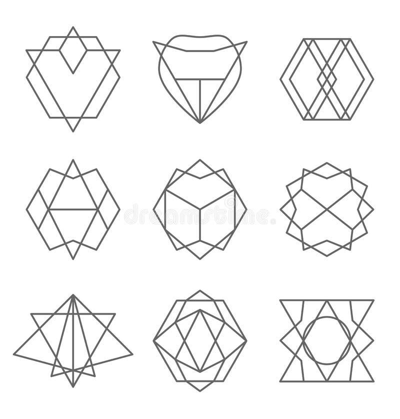Set modnisia konturu logo, odznaka, projektów elementy ilustracji