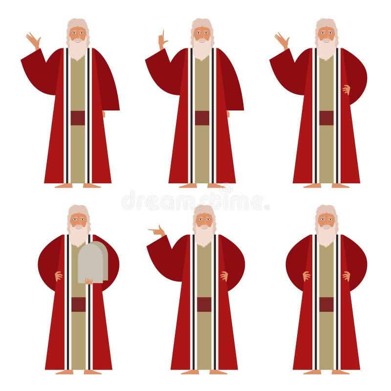 Set Mojżesz ilustracja wektor