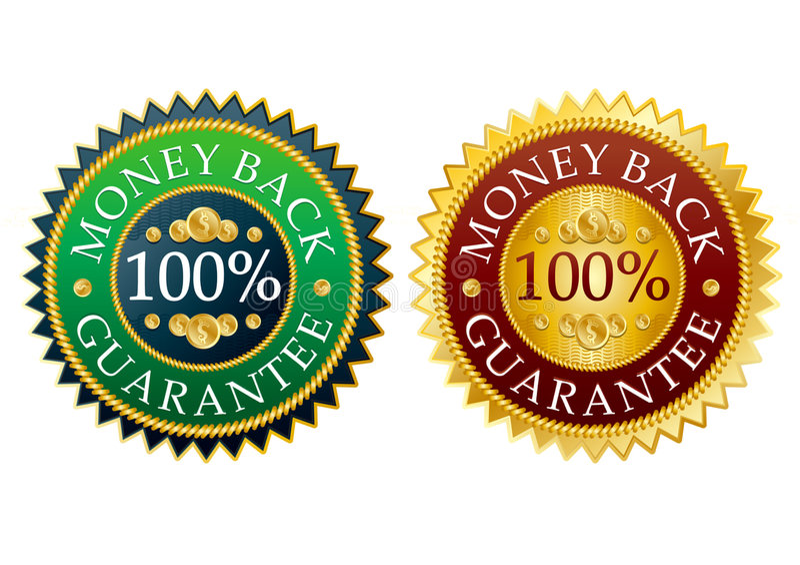 Set of money back stickers vector illustration