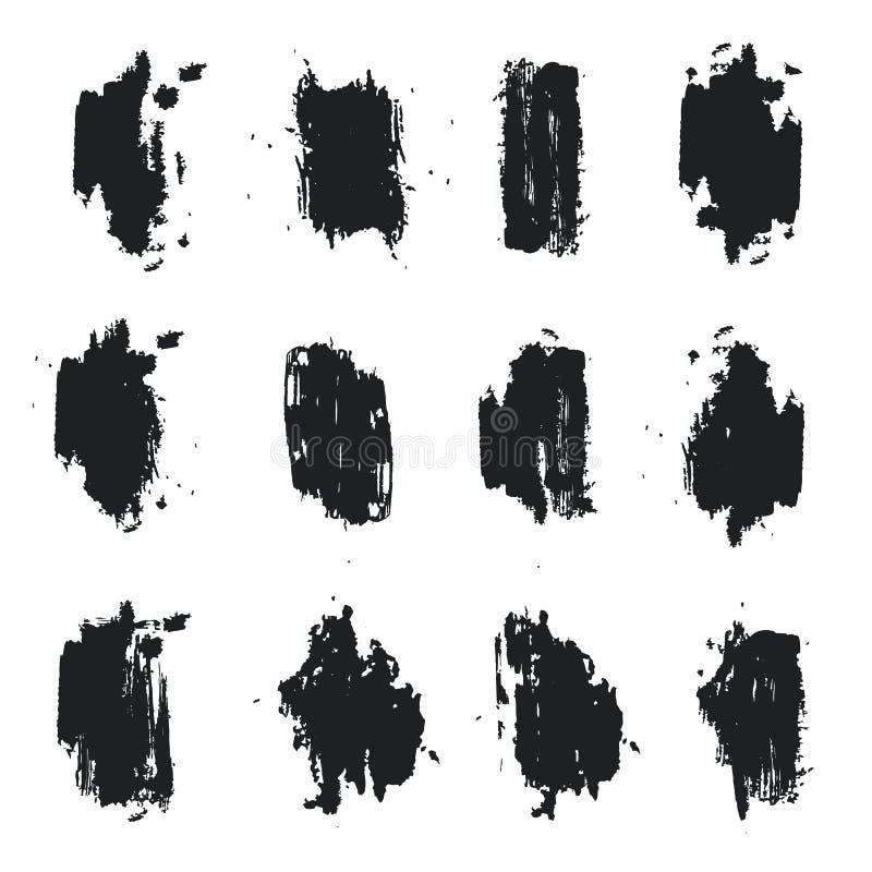 Download Set Monochromatyczni Grunge Punkty Atrament, Farba Ilustracja Wektor - Ilustracja złożonej z wyznaczający, muśnięcie: 57667328