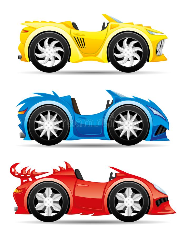 Set of monster toy cars. royalty free illustration