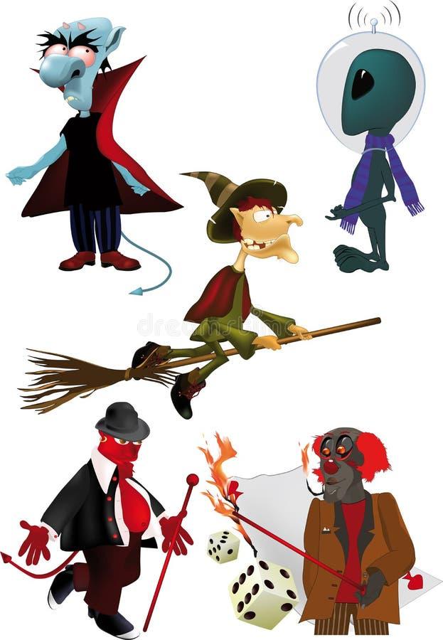 Download Set monsters stock vector. Illustration of broom, hood - 16280113