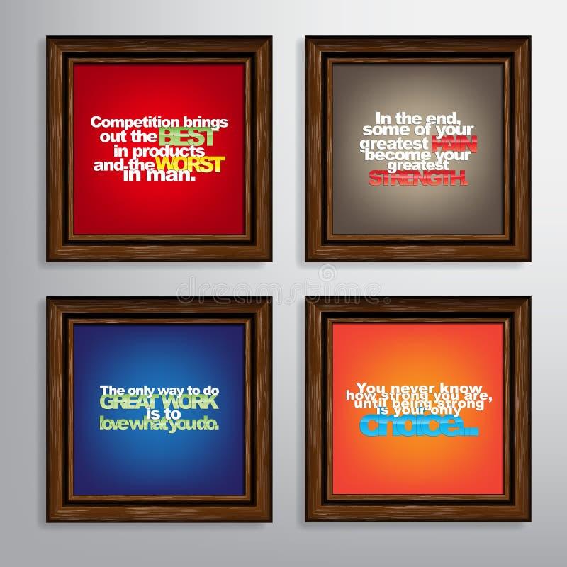 Set Of Motivational Quotes. royalty free illustration