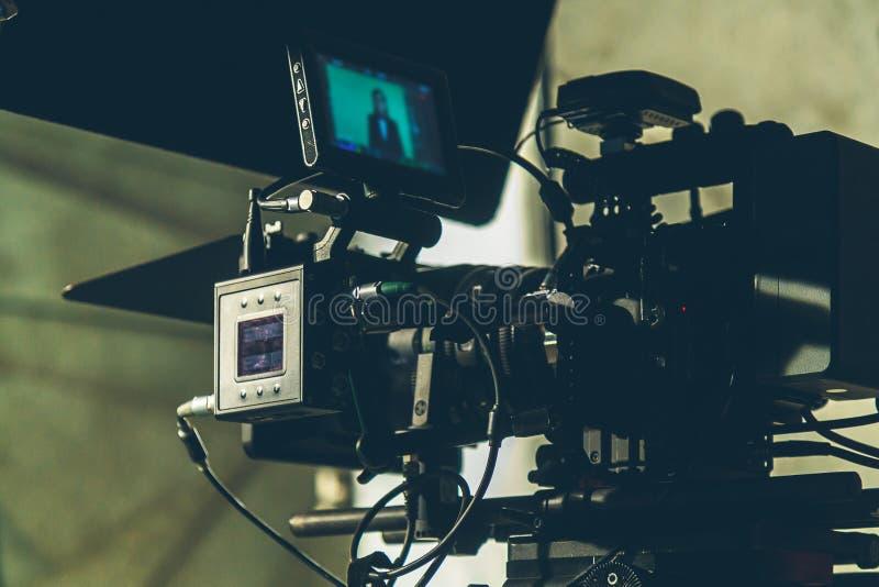 On-set movie camera stock photo