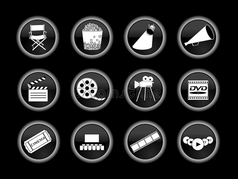 Download Set Of Movie Or Cinema Icons Editorial Stock Photo - Image: 9495978