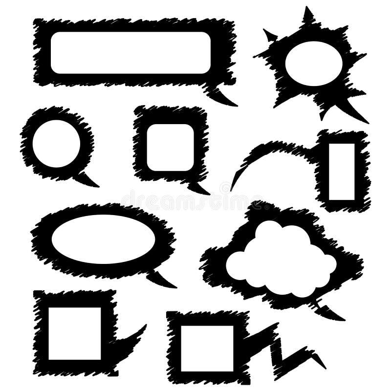 Set mowa bąbla szablony ilustracja wektor