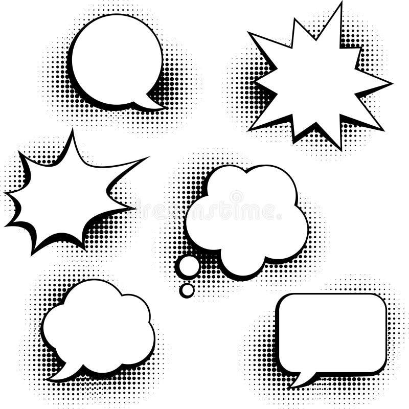 Set mowa gulgocze w wystrzał sztuki stylu ilustracji