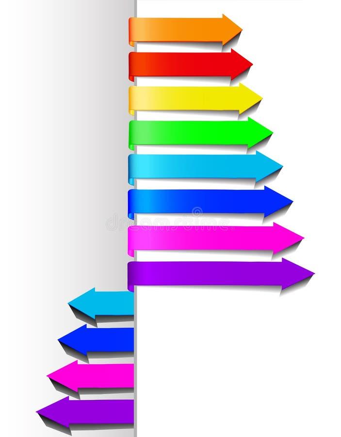 Set multicolored arrows