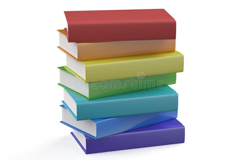 Set of multicolored books vector illustration