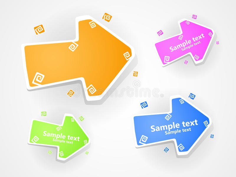 Download Set Of  Multucolored Arrow. EPS 10. Royalty Free Stock Images - Image: 19784379