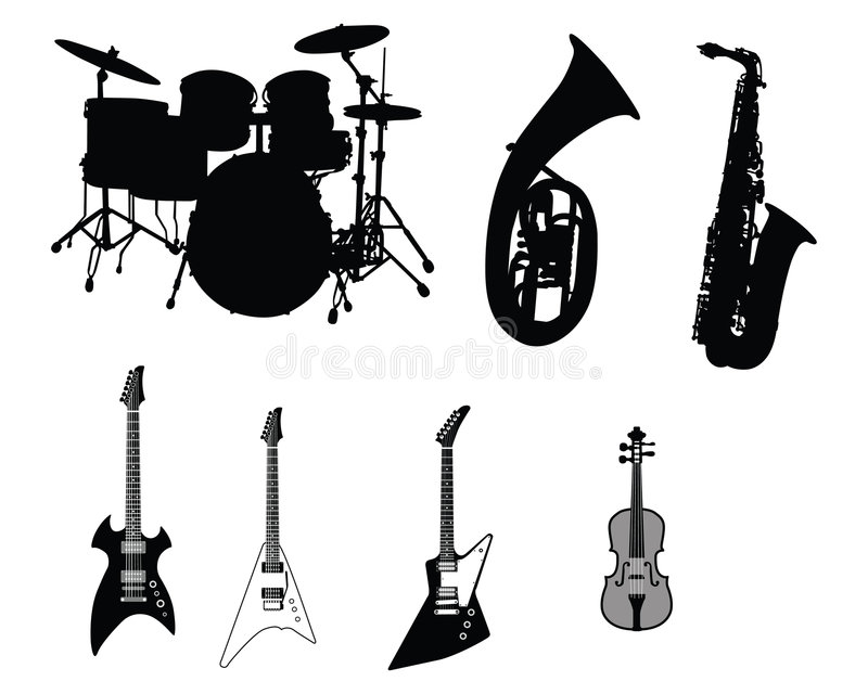 Download Set of musical instruments stock vector. Image of acoustics - 7818339