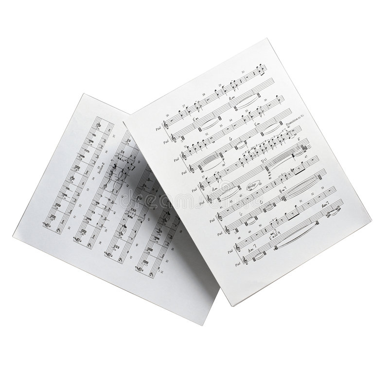 Set of musical notes royalty free stock photo