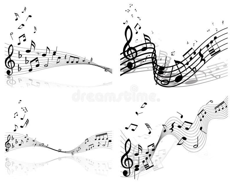 Set Musikhintergrund lizenzfreie abbildung