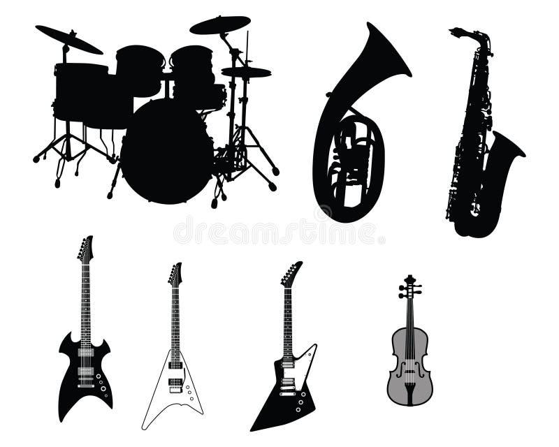 Set Musikinstrumente lizenzfreie abbildung