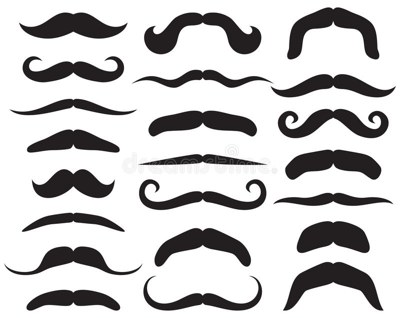 Set of mustache vector illustration
