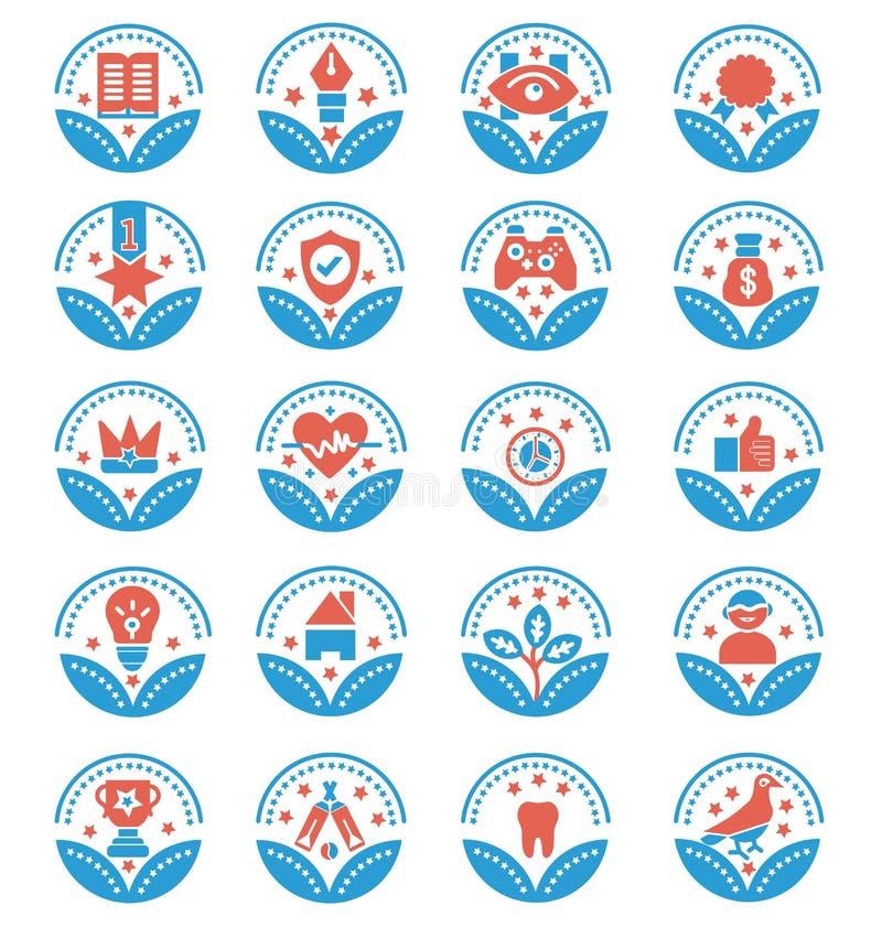 Set nagr?d Wektorowe ikony - wektoru znak ilustracja wektor