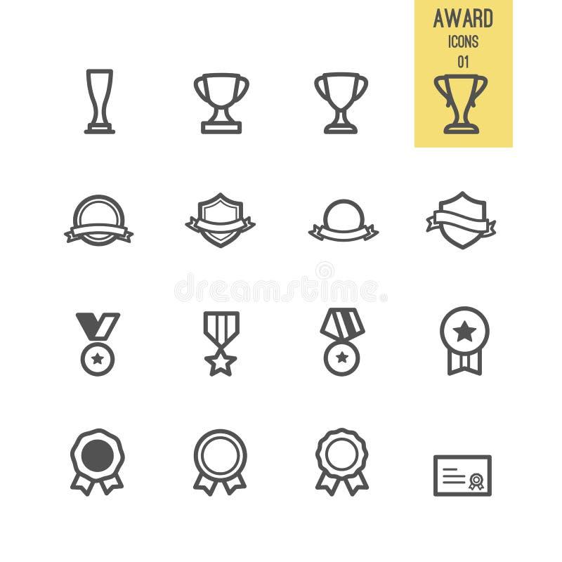 Set nagrody ikona royalty ilustracja