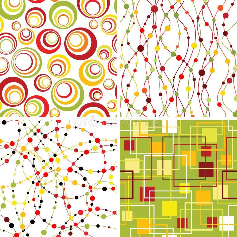 Set nahtlose Hintergründe. lizenzfreie abbildung