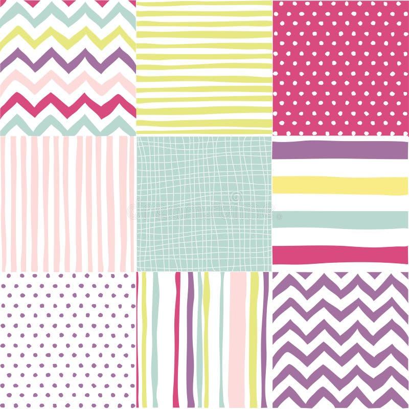 Set nahtlose Muster stock abbildung