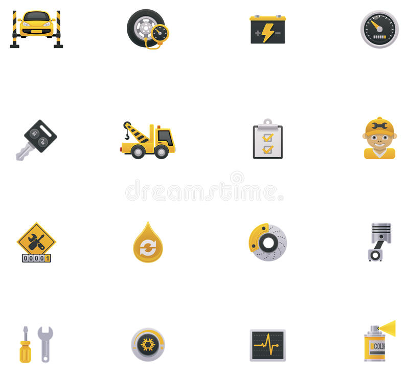 Samochód ikony usługowy set. Część 1 ilustracji