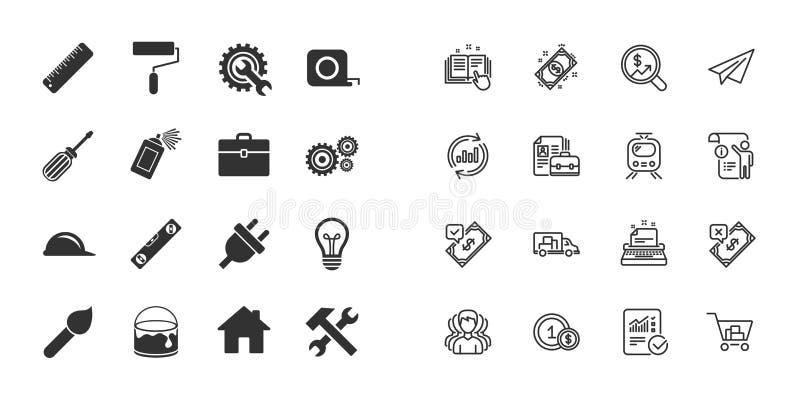 Set narzędzia, inżynieria i naprawa budowy, wektor ilustracja wektor