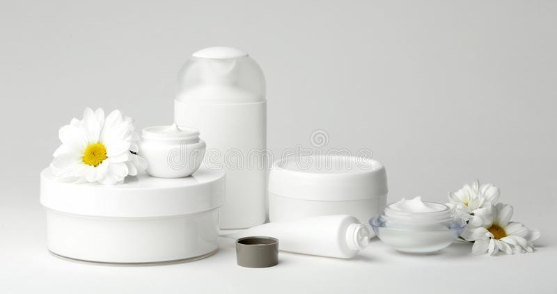 Set of natural cosmetics royalty free stock photography