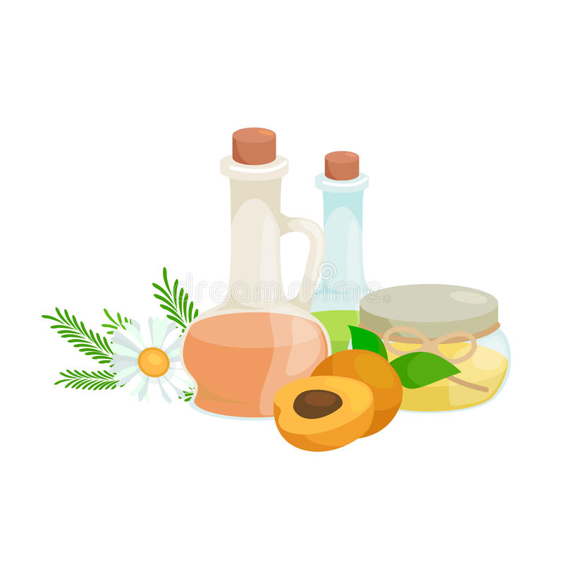 Set of natural organic hand made soap with olives vector illustration, body beauty care concept, nature cosmetics aroma stock illustration