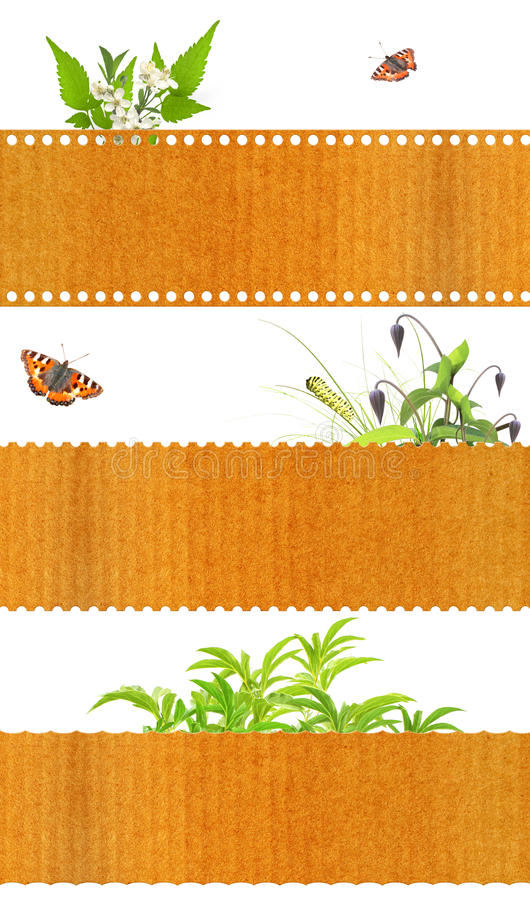 Set of nature banners royalty free stock image