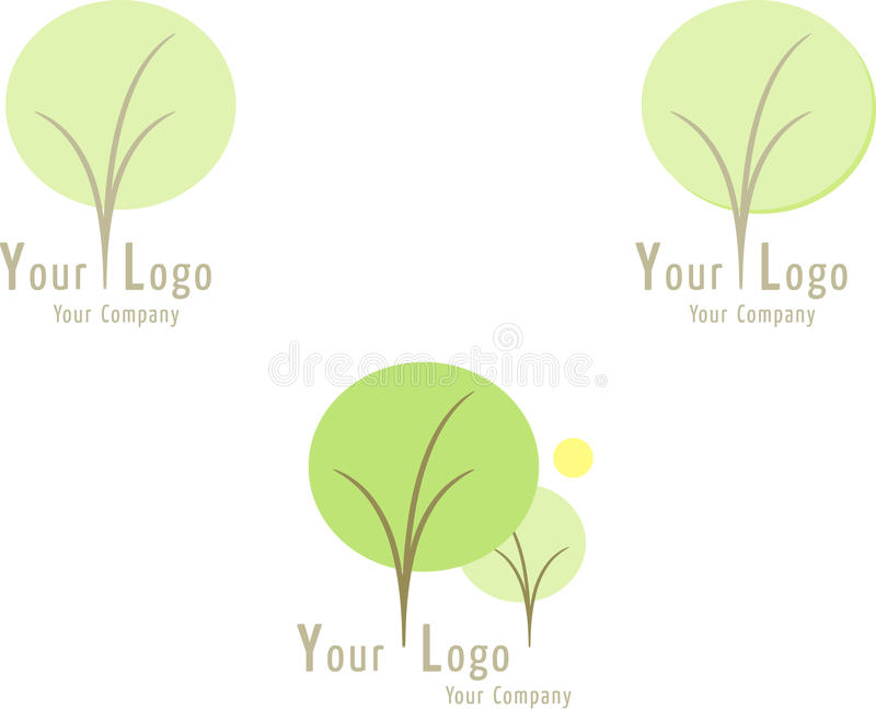 Download Set of nature icons: Trees stock vector. Image of flora - 10987159