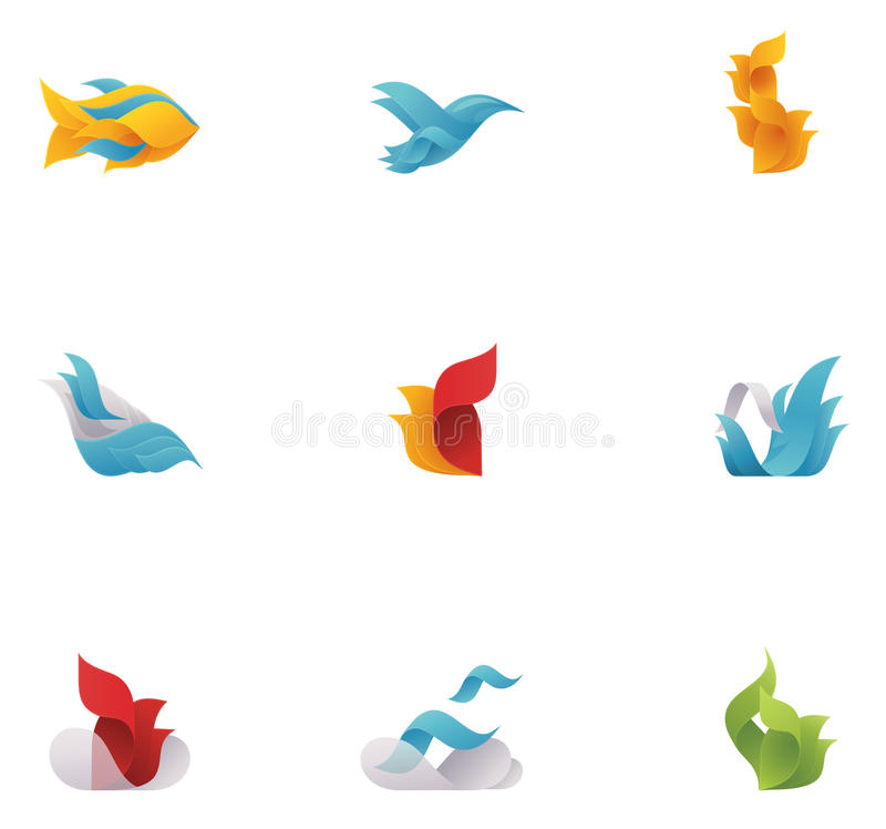 Vector abstract nature elements stock illustration