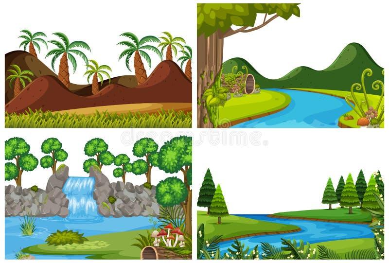 Set natury scena royalty ilustracja
