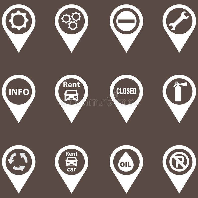 Set of navigation icons. For the card. gradients vector illustration