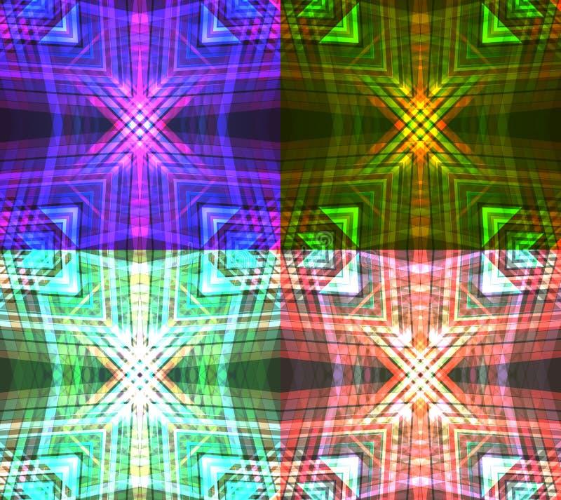 Set neonowe plemienne tekstury royalty ilustracja