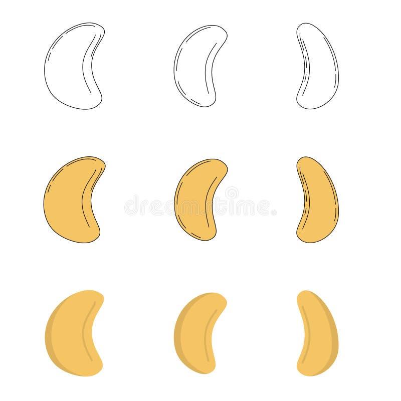 Set nerkodrzew w trzy stylach ilustracja wektor
