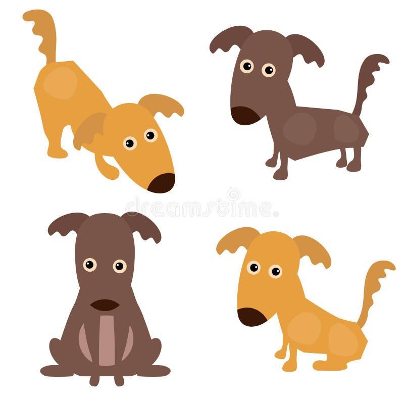 Download Set nette Hunde vektor abbildung. Illustration von glück - 96925893