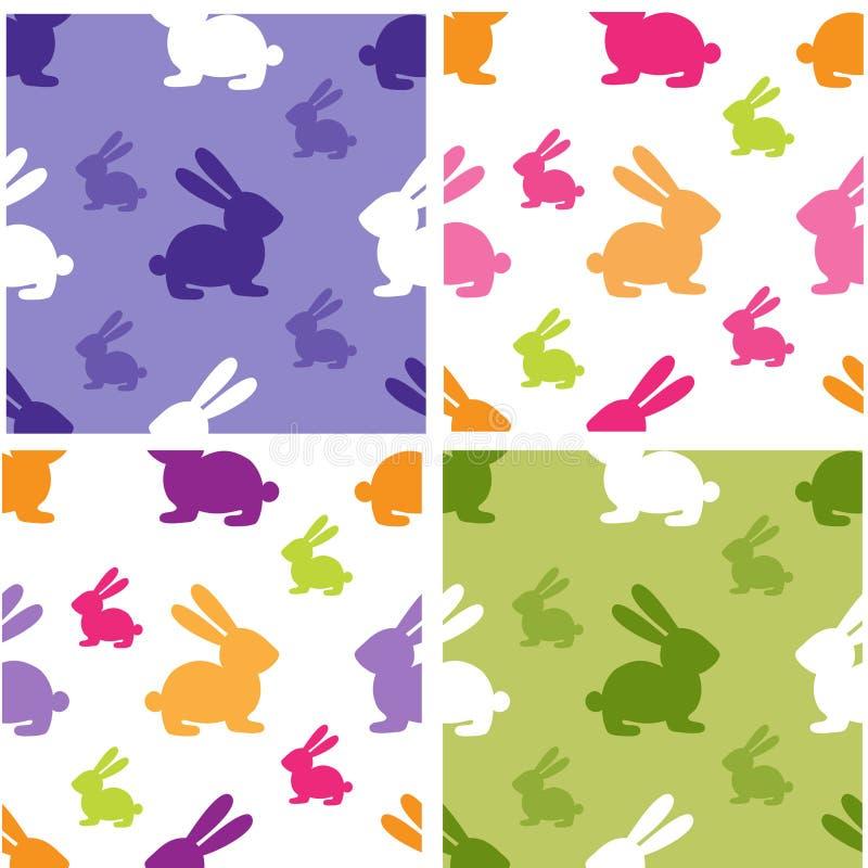 Set nette nahtlose Muster stock abbildung