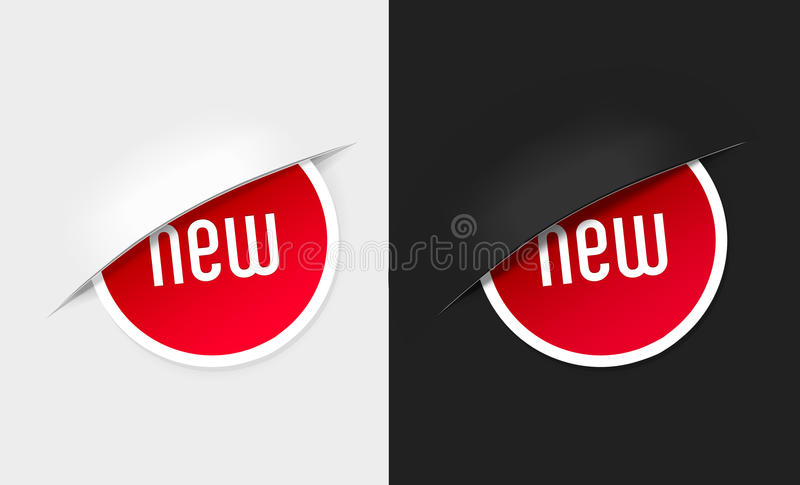 Download Set Of New Labels On Light And Dark Background. Stock Image - Image: 23406561