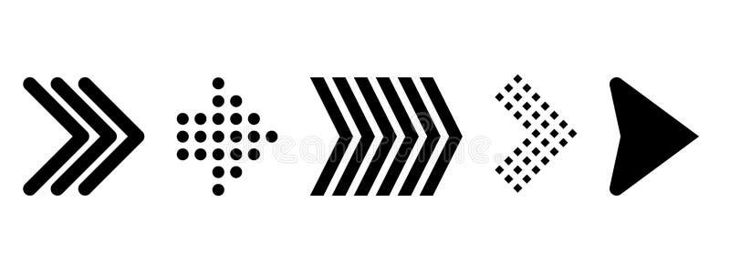 Set of new style black vector arrows isolated on white. Arrow vector icon. Arrows vector illustration collection. Vector illustration on white background vector illustration