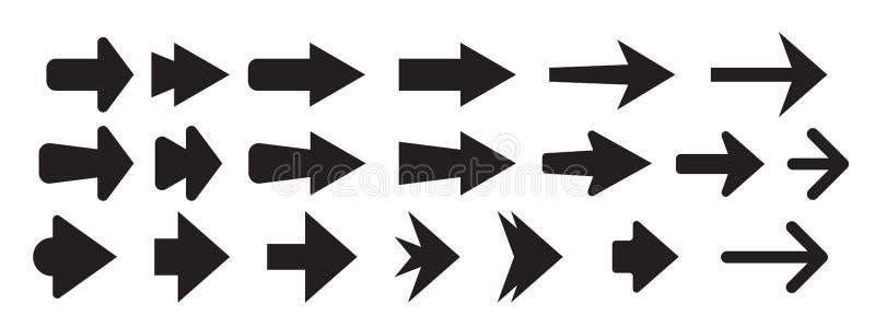 Set of new style black vector arrows isolated on white. Arrow vector icon. Arrows vector illustration collection. Vector illustration isolated on white vector illustration