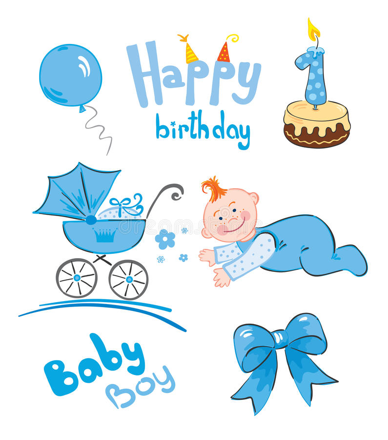 Download Set of newborn stock vector. Illustration of lover, celebration - 15006120