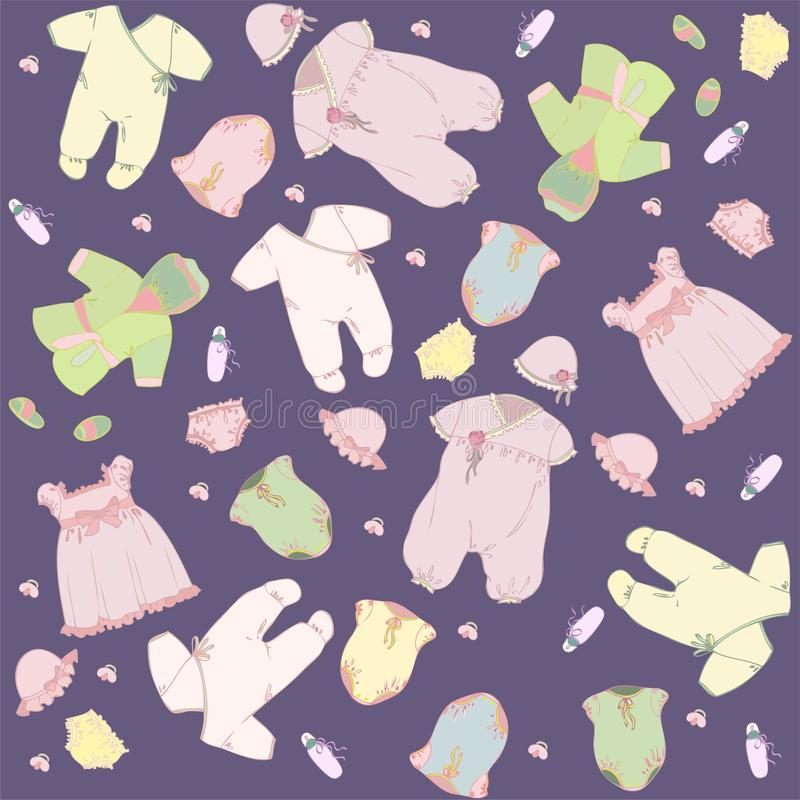 Download Set For Newly Born Baby.For Little Girl. Stock Photo - Image: 18665740