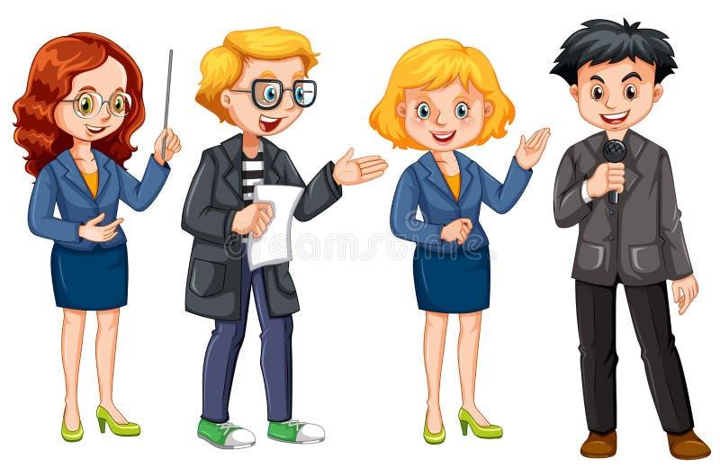Set of news reporter. Illustration vector illustration