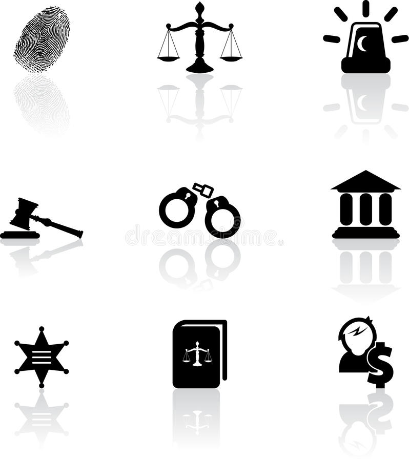 Download Justice icons stock vector. Image of handcuffs, criminal - 29881611