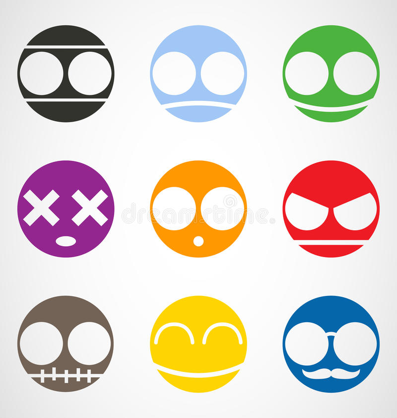 Download Set of Emoticons stock vector. Image of dead, characters - 29781052