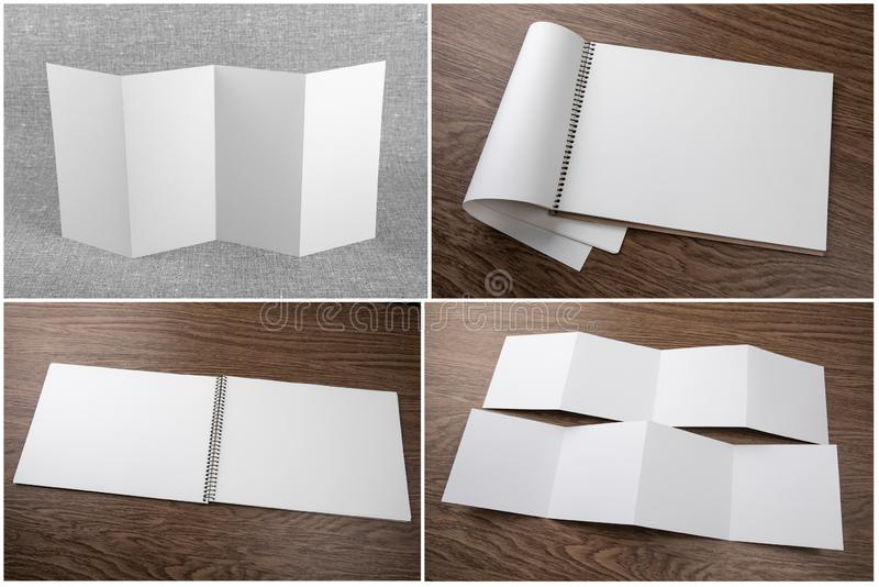 Set notatniki i broszury obrazy stock